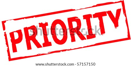 priority stamp vector illustration