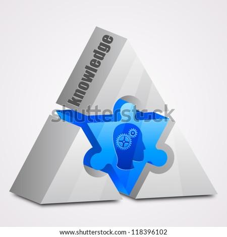 Prism puzzle: knowledge concept - stock vector