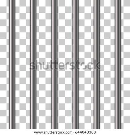 Prison bars isolated on transparent. Vector illustration. Way out to freedom concept