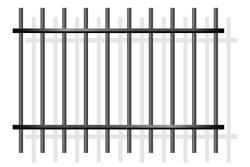 Prison bars. Vector illustration. Jail.