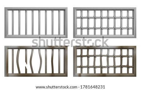 prison window with metal bars