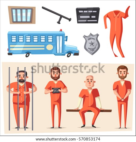 prison with prisoner character