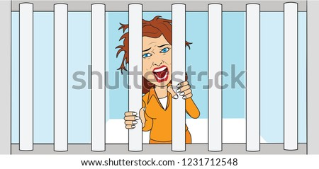 prisoner woman girl in jail