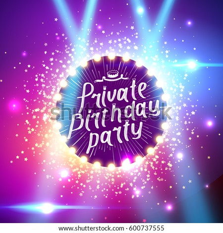 private birthday party brush