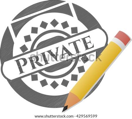 Private draw (pencil strokes)