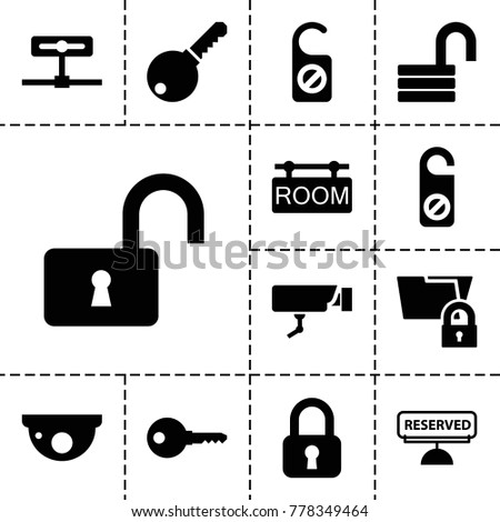 private icons set of 13