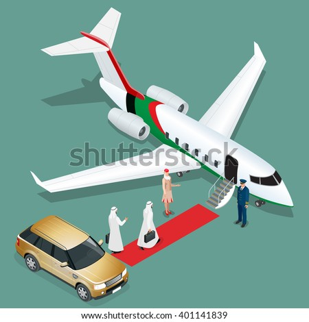 private jet airplane two arab