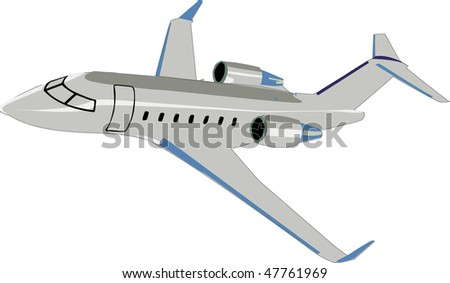 Private Jet Vector  47761969  Shutterstock