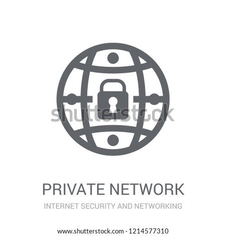 Private network icon. Trendy Private network logo concept on white background from Internet Security and Networking collection. Suitable for use on web apps, mobile apps and print media.