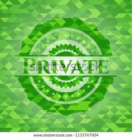 Private realistic green mosaic emblem