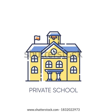 Private school RGB color icon. Prestigious educational establishment, independent academic institution. Exclusive education system. Isolated vector illustrations Photo stock ©