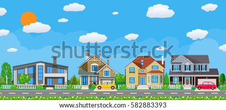 private suburban houses with