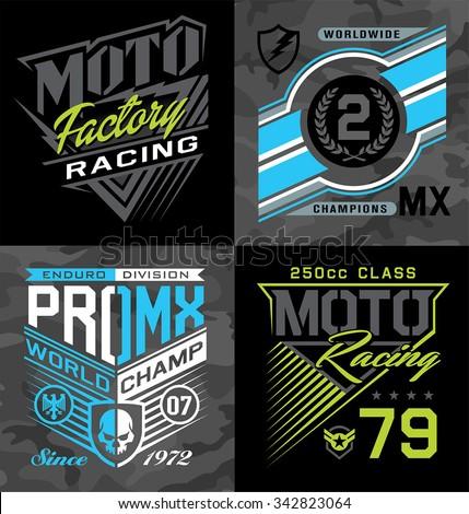 pro motocross racing emblem