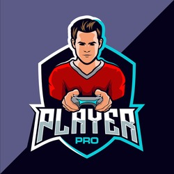 Pro player esport game logo design