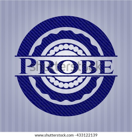 Probe emblem with denim texture