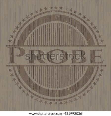 Probe retro wood emblem