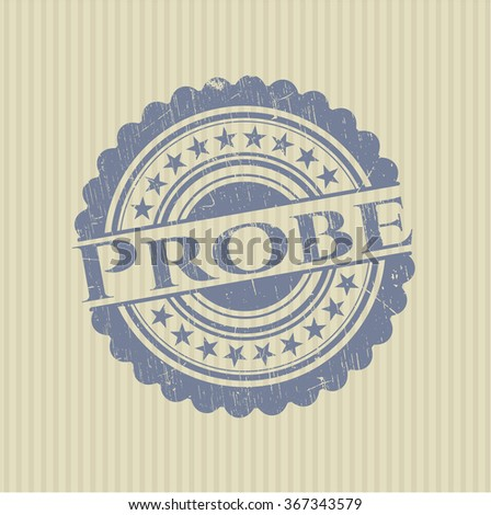 Probe rubber grunge texture stamp