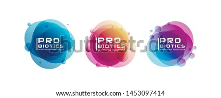 Probiotics bacteria logo. Prebiotic, Lactobacillus Vector Icon Design. Medical icons vector seamless pattern.White Background made from pills and capsules. Vector Illustration.