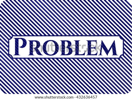 Problem jean or denim emblem or badge background
