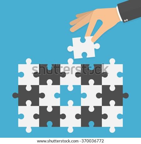 problem solving concept hand