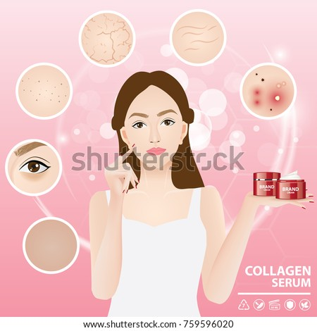 problems skin woman vector