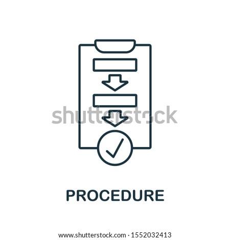 Procedure icon outline style. Thin line creative Procedure icon for logo, graphic design and more. Сток-фото ©