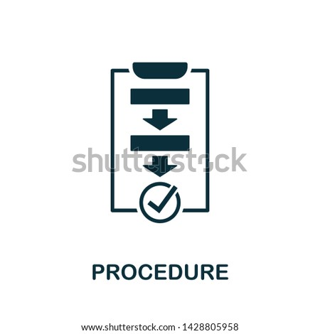Procedure vector icon illustration. Creative sign from quality control icons collection. Filled flat Procedure icon for computer and mobile. Symbol, logo vector graphics. Сток-фото ©