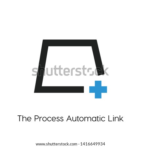 process automatic link vector icon, process automatic link  symbol. Linear style sign for mobile concept and web design. process automatic link  symbol illustration. Pixel vector graphics - Vector.