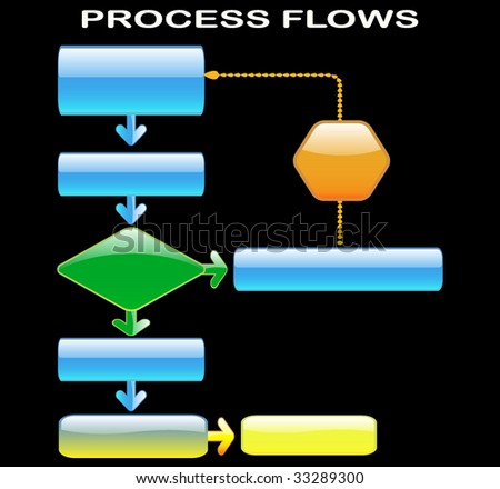 process flows - stock vector