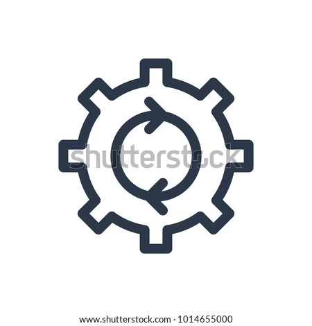 Process icon. Isolated cogwheel and process icon line style. Premium quality vector symbol drawing concept for your logo web mobile app UI design.