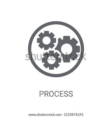 Process icon. Trendy Process logo concept on white background from Human Resources collection