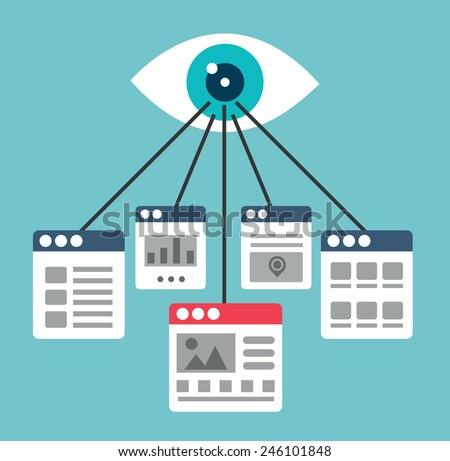Process of creating interaction with site visitors. Optimization of web pages or landing pages - vector illustration