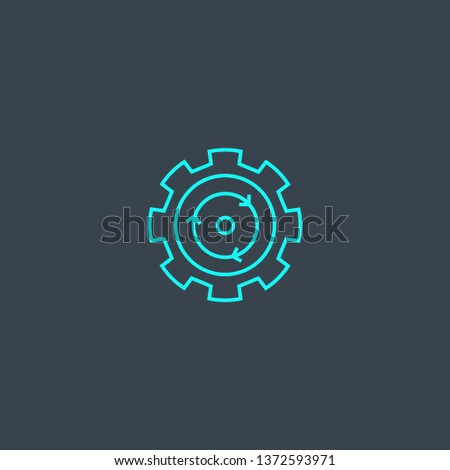 process optimization concept blue line icon. Simple thin element on dark background. process optimization concept outline symbol design. Can be used for web and mobile UI/UX