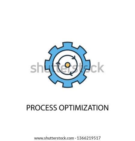 process optimization concept 2 colored icon. Simple blue element illustration. process optimization concept symbol design. Can be used for web and mobile UI/UX