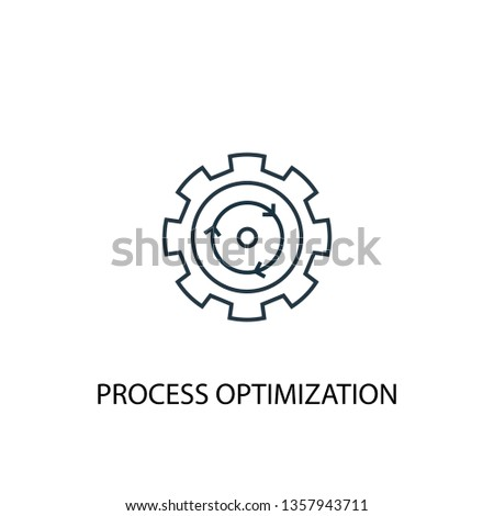 process optimization concept line icon. Simple element illustration. process optimization concept outline symbol design. Can be used for web and mobile UI/UX