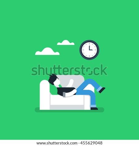 procrastination concept  lazy