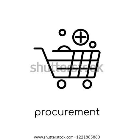 procurement icon. Trendy modern flat linear vector procurement icon on white background from thin line General collection, editable outline stroke vector illustration Stockfoto ©