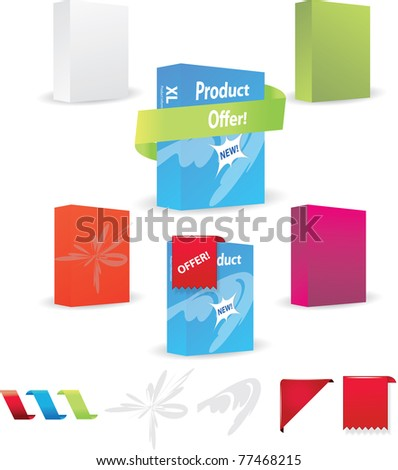 Product box design set