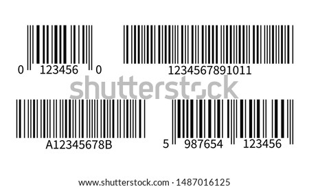 Product code. Line bar stickers with barcode for scan uniquecode bars retail reader vector isolated supermarket symbols scanning label inventory tracking template