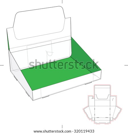 Product Display Box with Blueprint Layout
