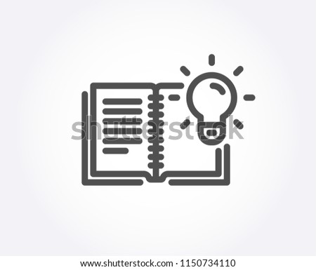 Product knowledge line icon. Education process sign. Quality design element. Classic style. Editable stroke. Vector