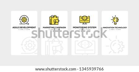 PRODUCT MANAGEMENT LINE ICON SET