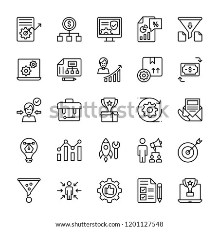 Product Management Line Vector Icons