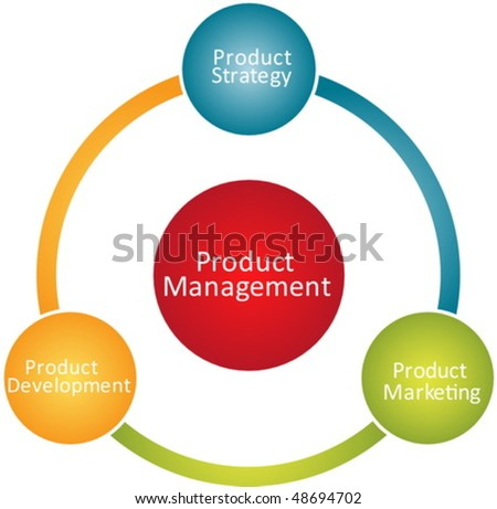 Product management marketing development business strategy concept diagram vector