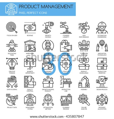 Product management , Thin Line and Pixel Perfect Icons