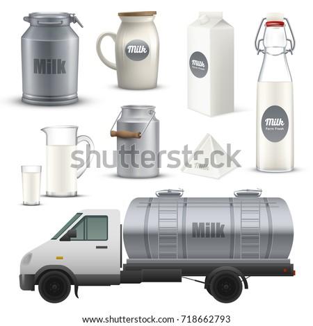product milk in metallic  glass