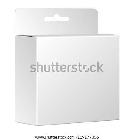 Product package box isolated on white background. Vector, eps 10