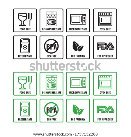 Product Packaging Icons Set Vector Illustration
