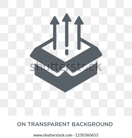product release icon. Trendy flat vector product release icon on transparent background from General collection. High quality filled product release symbol use for web and mobile