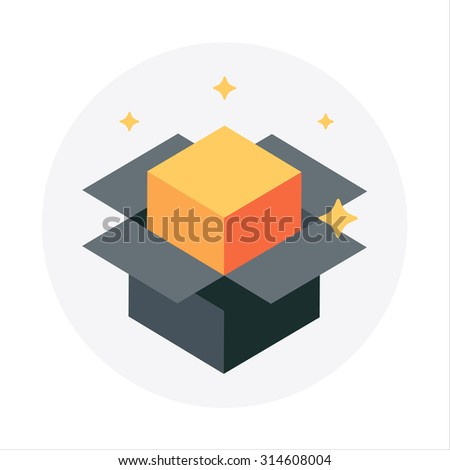 Product release, packaging theme, flat style, colorful, vector icon for info graphics, websites, mobile and print media.